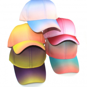 Outdoor Sports Pu Rainbow Colours Baseball Cap